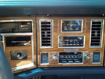 1982 Cadillac Convertible - Int Radio and AC.JPG