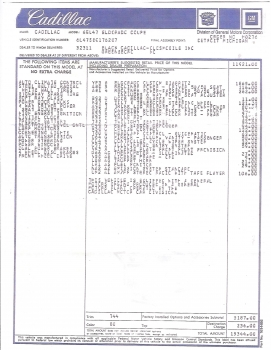 1978 Cadillac Eldorado Biarritz Coupe Sticker C1288.jpg