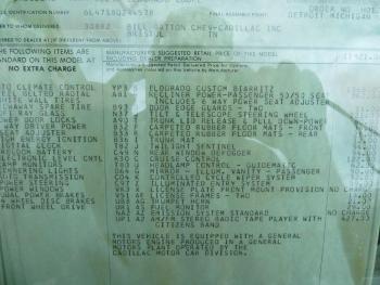 1978 Cadillac Eldorado Biarritz C1289 Docs (5).jpg
